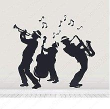 wwccy wall sticker 61X57Cm jazz band silhouette