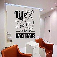 wwhhh Adesivi murali Barbershop Cartoon Barbershop