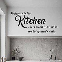 wwhhh adesivo adesivo da parete cucina benvenuto