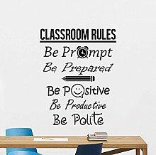 wwhhh adesivo creativo regole dell'aula