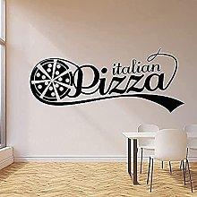 wwhhh adesivo da parete pizza segno negozio