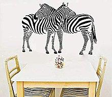 wwhhh adesivo due zebre abbraccio insieme