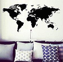 wwhhh Adesivo Mappa Del Mondo Atlas Wall Sticker