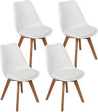 Wyctin - 4 sedie BREKKA Design scandinavo