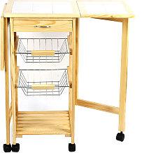 Wyctin - Carrello da cucina in legno Carrello da