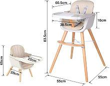 WYCTIN® Sedia da pranzo in legno massello per
