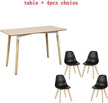 WYCTIN® set 1 tavolo + 4 pcs sedia da pranzo