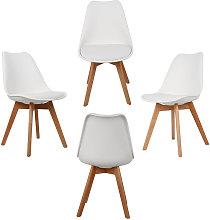 Wyctin - Set di 4 sedie minimaliste in stile
