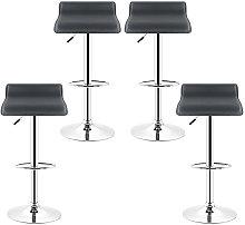 WYCTIN® Set di 4 sgabelli da bar neri, sedia da