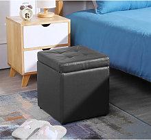 Wyctin - Sgabello Cube con vano contenitore,