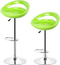 WYCTIN® Sgabello da bar in metallo verde Laura -