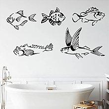 WYLYSD Pesci Adesivo Murale Pesci Marini