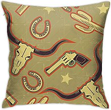 XCNGG Western for Background for Throw Pillow Case