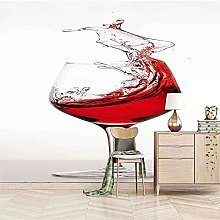 XHXI Bicchiere da vino Trend 3D Carta da parati