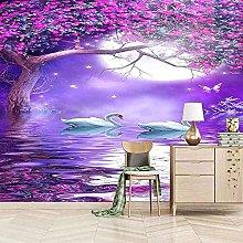 XHXI View Lake View Purple 3D Carta da parati