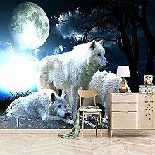 XHXI Wolfer Wolf White Full Moon 3D Carta da