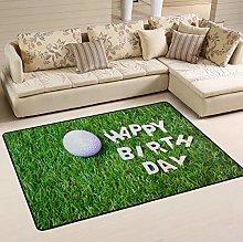 XiangHeFu Tappeti zerbini Happy Birthday Golf
