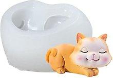 XIANZI Stampo in silicone 3D a forma di gatto,