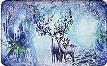 XINGAKA Tappetini per porte,da bagno,tappeti,Elk