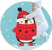 Xingruyun Rotondo Tappeto Pinguino del Fumetto