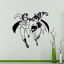 xingzhi Batman E Robin Adesivo Murale Fumetti