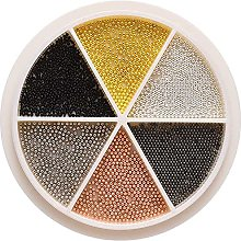 XinYiC - Perline in acciaio inox per unghie fai da