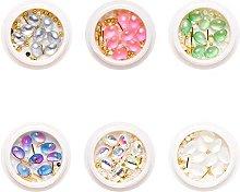 XinYiC - Ribattini in lega per unghie in gel per