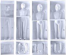 XiuginFU Stampo in plastica 3D per fondente fai da