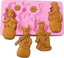 XiuginFU - Stampo in silicone serie natalizia,