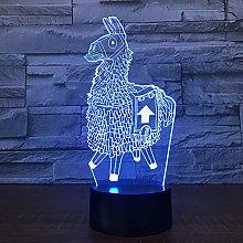 Xiujie Alpaca Lama 3D Led Desk Lamp Modeling Night