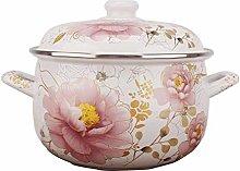 XKun - Vaso per zuppa smaltato, dimensioni: 18 cm