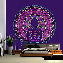 XPTNQ arazzoBuddha Indiano Meditazione Chakra