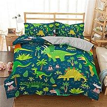 XSXS Biancheria da letto con dinosauro, per