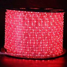 XUNATA 5m Striscia LED Rotonda Flessibile, AC 220