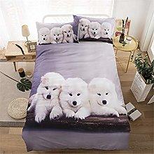 Xungeng - Parure da letto in poliestere morbido,