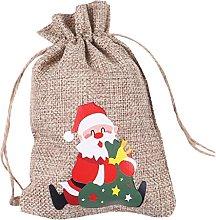 XXIXXV sacchetti di natale di caramelle di iuta di