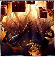 XXzhang Genshin Impact Tenda da Doccia con Ganci -