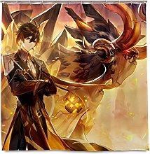 XXzhang Tenda da Doccia Genshin Impact con Ganci -