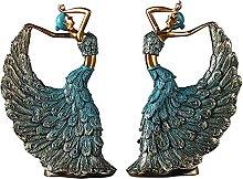 XXZZL Movimenti di Danza Statuetta Figura in