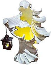 XXZZL Statua di Streghe con Lanterna a LED,