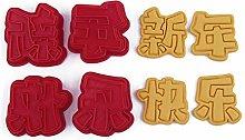 Xzbnwuviei - Fustella per biscotti 3D a forma di