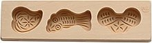Xzbnwuviei, stampo in legno 3D, per biscotti,