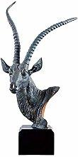 YANRUI Antelope Testa Statua Animale Selvaggio