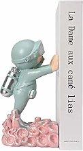 YANRUI Astronauta Bookend Resina Spaceman Statua