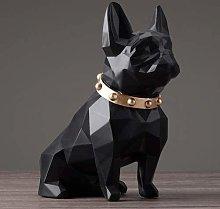 YANRUI Cool Dog Statua Artigianato Animale Resina