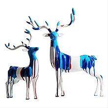 YANRUI Dipinta a mano Art Deer Scultura Animale