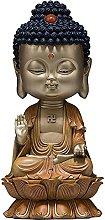YANRUI Dipinto Rame Artigianato Seduto Buddha