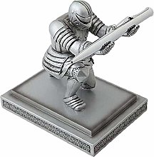 YANRUI Executive Knight Scultura Statua Portapenne