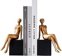 YANRUI Fermalibri Cava Clip Libro Ragazza Statua