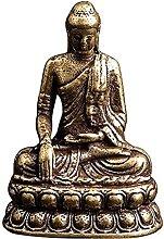 YANRUI Sakyamuni Statua Hollow Ottone Scultura In